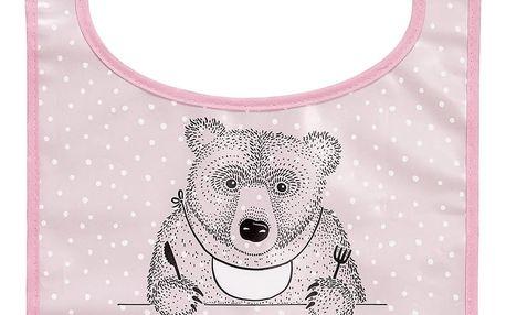 Bloomingville Dětský bryndáček Nelly, růžová barva, plast