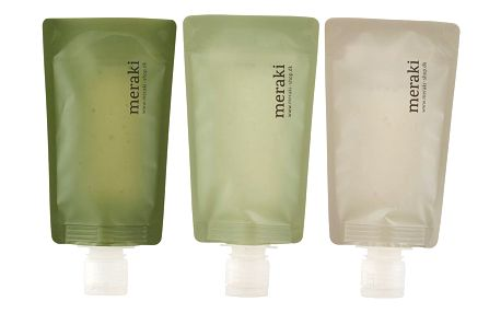 meraki Cestovní lahvičky - 3x98 ml, zelená barva, šedá barva, plast