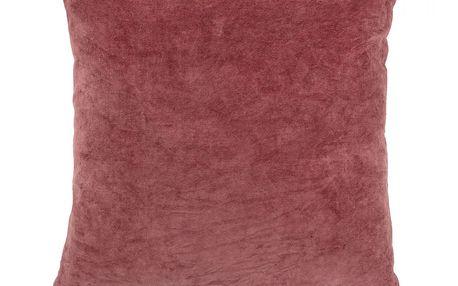 Bloomingville Polštář s třásněmi Rose 45x45 cm, růžová barva, textil