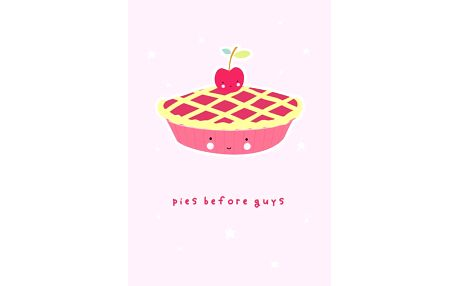 A Little Lovely Company Pohlednice Pies & Guys, růžová barva, papír