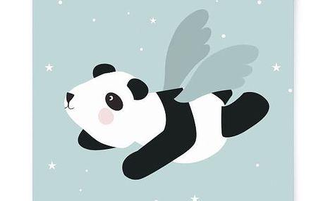 EEF lillemor Plakát do dětského pokojíčku Flying Panda A3, zelená barva, papír