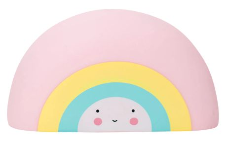 A Little Lovely Company Hračka do vany Rainbow, růžová barva, modrá barva, žlutá barva, bílá barva, plast