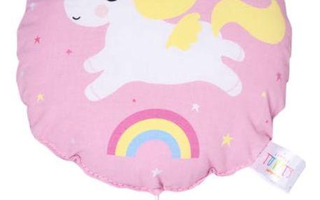 A Little Lovely Company Natahovací hudební hračka Pink Unicorn, růžová barva, plast, textil