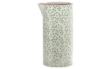 Bloomingville Džbánek na smetanu Patrizia, zelená barva, keramika