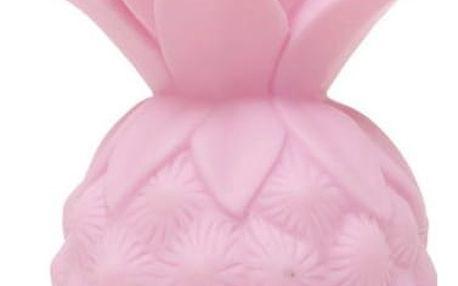 PETIT MONKEY Noční lampička Pineapple Pink, růžová barva, plast