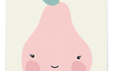 EEF lillemor Pohlednice Miss Pear A6, růžová barva, papír