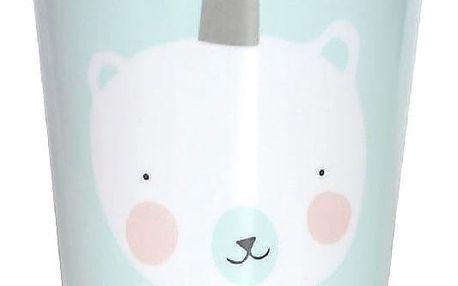 EEF lillemor Melaminový hrnek pro děti Mint Polar Bear, zelená barva, melamin