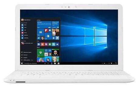 Notebook Asus X541NA-GO129T bílý + dárky (X541NA-GO129T)