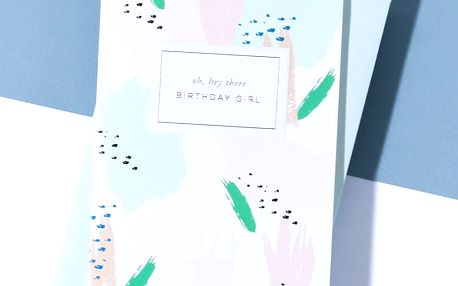 À L'AISE Papírové přání s obálkou Birthday Girl, zelená barva, papír