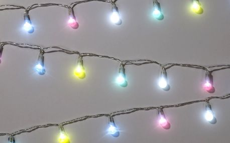 Talking Tables Pastelový LED řetěz Fairy Lights, multi barva, sklo