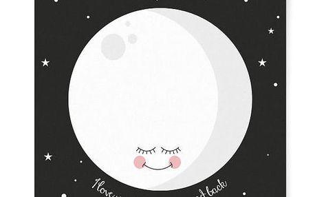 EEF lillemor Plakát Black Moon A3, černá barva, papír