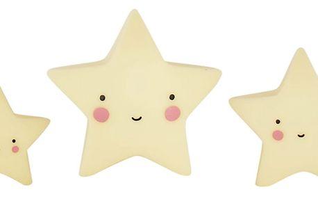 A Little Lovely Company Mini plastová figurka Star Yellow - 3 ks, žlutá barva, plast