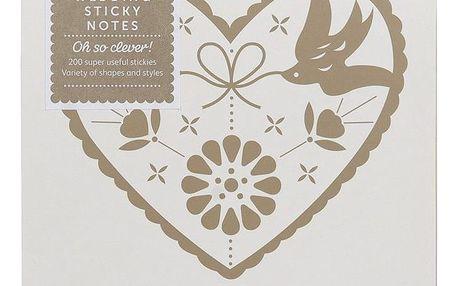 Busy B Svatební lepítka Bride to B Heart, růžová barva, béžová barva, multi barva, krémová barva, papír