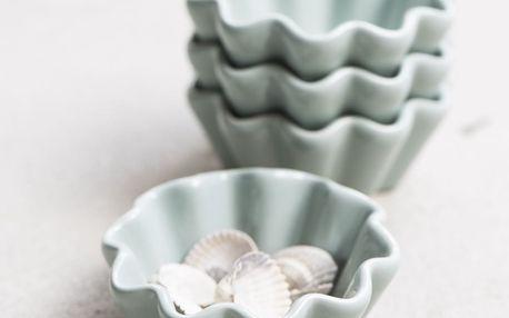 IB LAURSEN Keramická forma na muffiny Mynte Green Tea, zelená barva, keramika