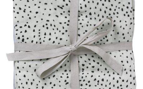 ferm LIVING Bavlněná plenka Muslin Diapers - set 3ks, modrá barva, zelená barva, šedá barva, textil