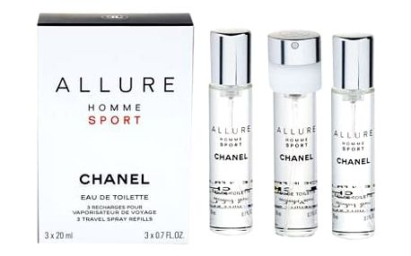 Chanel Allure Homme Sport 3x 20 ml 20 ml EDT Náplň M