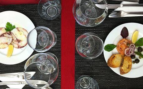 6chodové menu s plody moře i steakem z tuňáka