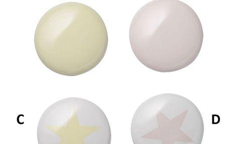 Bloomingville Keramický magnet Colours A - žlutá, multi barva, porcelán