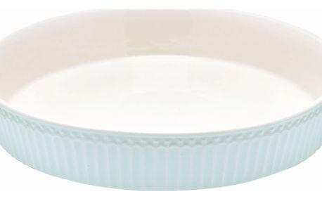 GREEN GATE Forma na koláč Alice Pale blue, modrá barva, bílá barva, keramika