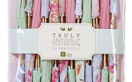 Talking Tables Papírové deštníčky do pohárů Romantic, růžová barva, multi barva, papír