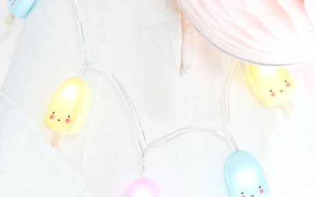 A Little Lovely Company Světelný řetěz Popsicles, růžová barva, modrá barva, plast