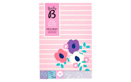Busy B Lepítka Pink Floral, růžová barva, multi barva, papír