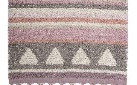 Bloomingville Bavlněný kobereček Rose 60x90cm, růžová barva, fialová barva, béžová barva, textil