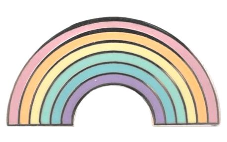 EEF lillemor Odznáček Beautiful Rainbow, multi barva, kov, smalt