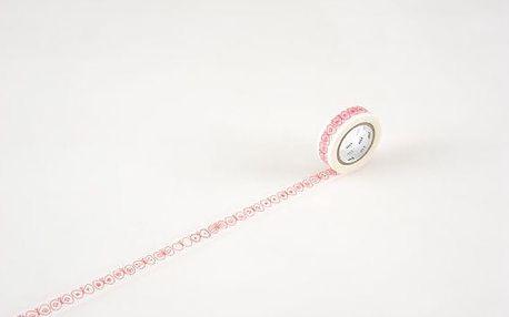 mt Designová samolepící páska Choucho-coral, červená barva, papír