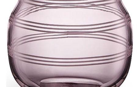 KÄHLER Skleněný svícen / váza Omaggio Plum 7,5 cm, růžová barva, fialová barva, sklo