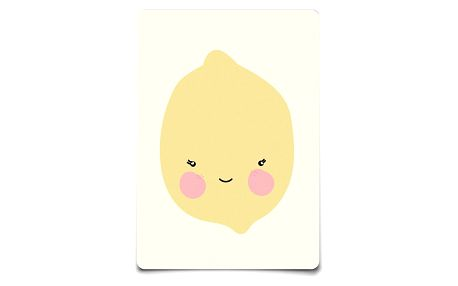EEF lillemor Pohlednice Citron A6, žlutá barva, papír