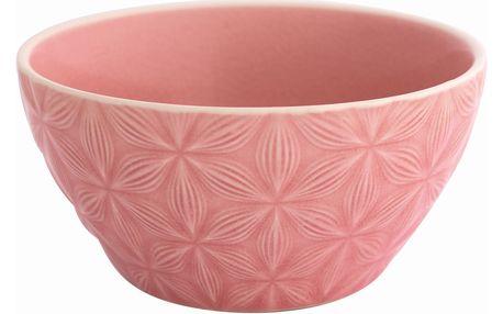GREEN GATE Keramická miska na cereálie Kallia pale pink, růžová barva, keramika