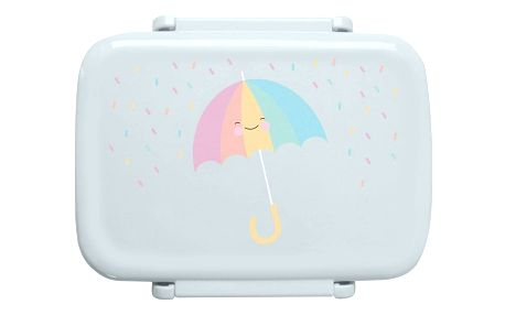 EEF lillemor Mini krabička na svačinu Umbrella, modrá barva, zelená barva, plast