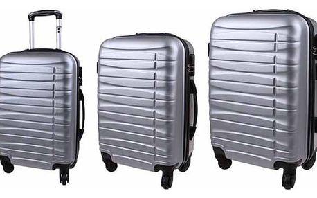 Sada 3 pevných skořepinových kufrů všech velikostí ve 2 barvách