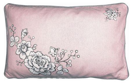 GREEN GATE Bavlněný povlak na polštář Ella 30x50cm, růžová barva, textil