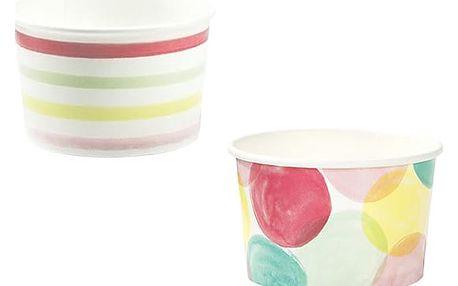 Talking Tables Papírové kelímky na zmrzlinu We Love Ice Cream - set 10 ks, multi barva, papír