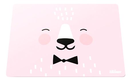 EEF lillemor Silikonové prostírání Pink 30x40cm, růžová barva