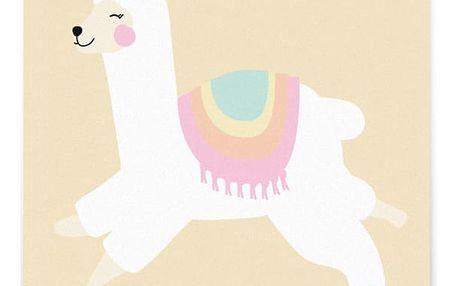 EEF lillemor Pohlednice Alpaca, žlutá barva, krémová barva, papír
