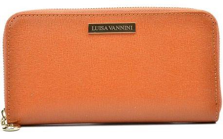 Koňakově hnědá kožená peněženka Luisa Vannini Lanza