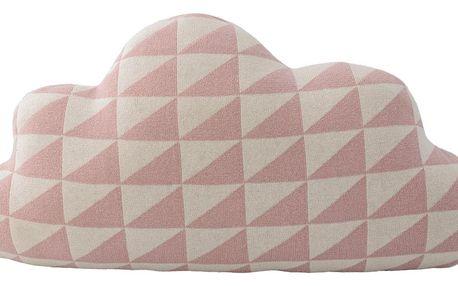 Bloomingville Dětský polštářek Knitted Sky Rose, růžová barva, textil