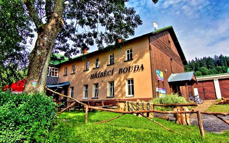 Krkonoše v horské chatě nedaleko Špindlerova Mlýna se saunou, polopenzí a půjčením kol