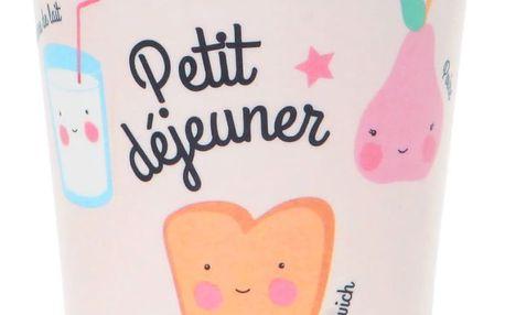 EEF lillemor Melaminový hrnek pro děti Petit déjeuner Pink, růžová barva, melamin