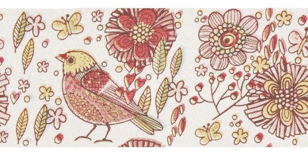 MADAM STOLTZ Designová samolepicí páska Flowers&Birds, růžová barva, papír