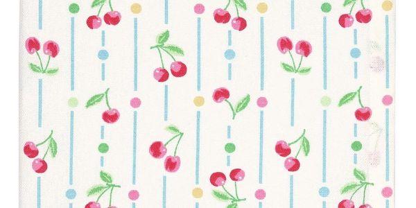 GREEN GATE Kuchyňská utěrka Cherry white, bílá barva, multi barva, textil