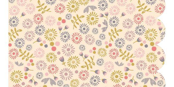 Maileg Papírové ubrousky Fleurs Cream, multi barva, krémová barva, papír