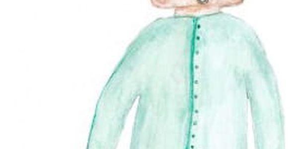 miniroom Plakát do dětského pokojíčku Rabbit Cloud, zelená barva, papír