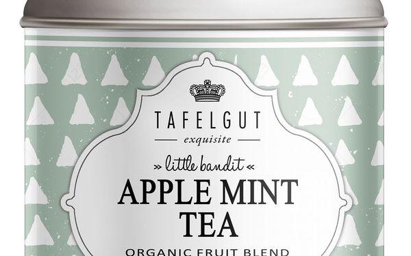TAFELGUT BIO ovocný čaj s mátou Apple mint tea - 110gr, zelená barva, kov
