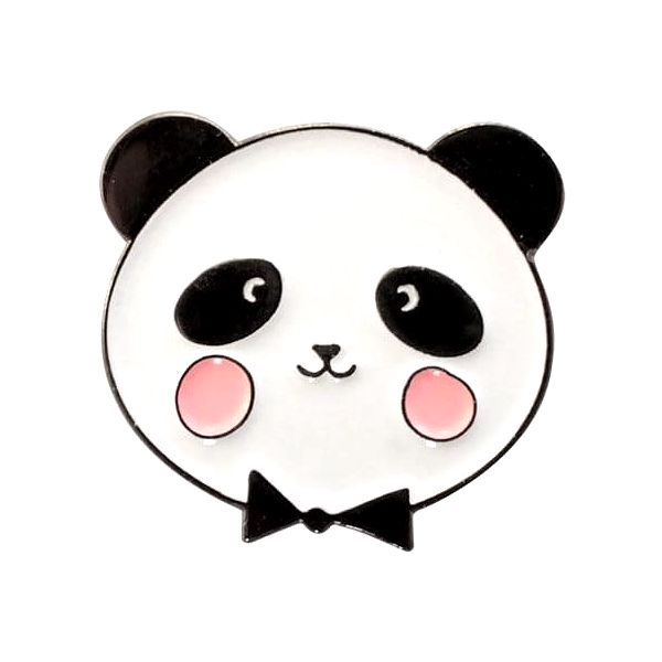 EEF lillemor Odznáček Adorable Panda, růžová barva, černá barva, bílá barva, smalt