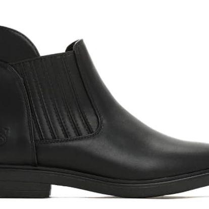 Dámské černé lesklé kotníkové boty Regan 1281