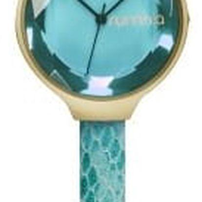 Dámské tyrkysové hodinky s koženým řemínkem Rumbatime Orchard